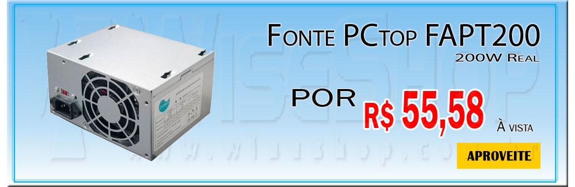 Fonte ATX 200W PCtop FAPT200