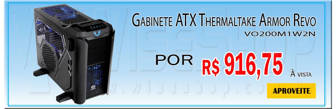 Gabinete ATX Thermaltake Armor Revo VO200M1W2N